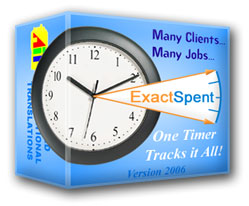 ExactSpent Time Tracking Software Screenshot