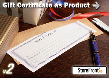 Gift Certificate Add-On for StoreFront Screenshot