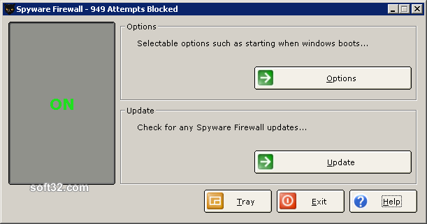 Spyware Firewall Screenshot