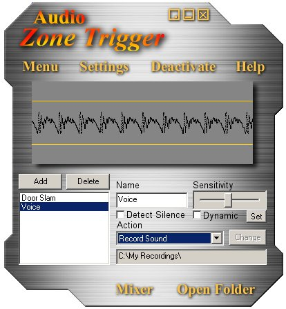 Audio Zone Trigger Screenshot 2