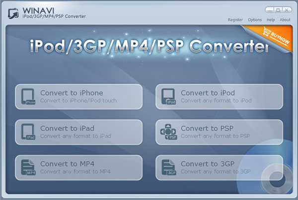 WinAVI 3GP/MP4/PSP/iPod Video Converter Screenshot