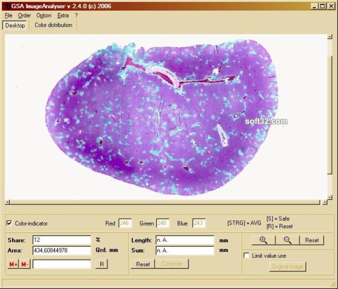 GSA Image Analyser Screenshot 4