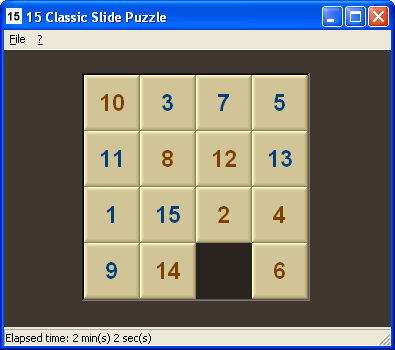 15 Classic Slide Puzzle Screenshot