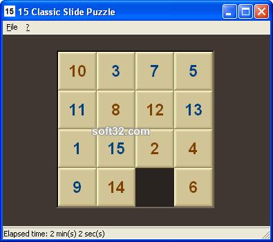 15 Classic Slide Puzzle Screenshot 3