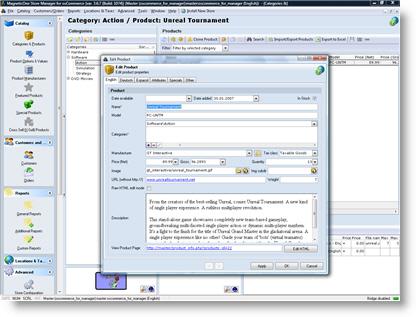 osCommerce Manager Screenshot 1