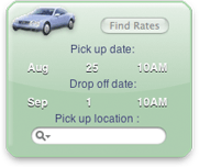 CarRental Yahoo! Widget Screenshot
