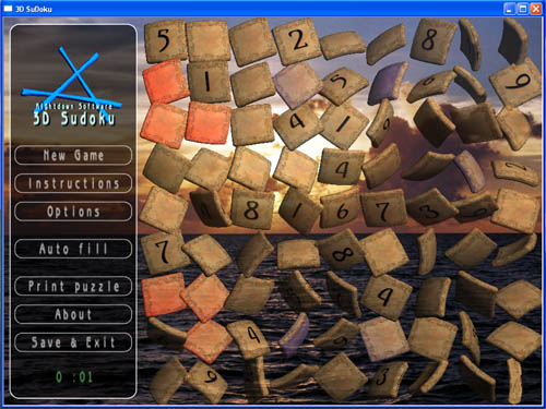 3D SuDoku Screenshot
