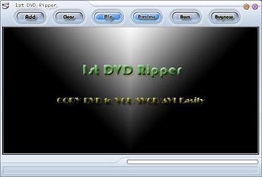 1st DVD Ripper Screenshot 1