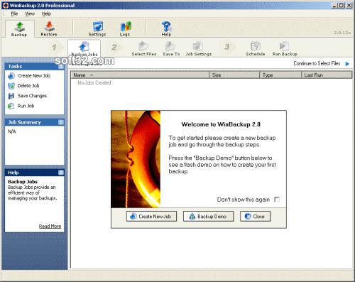 WinBackup 2.0 Standard Screenshot 2