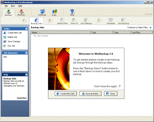 WinBackup 2.0 Standard Screenshot