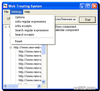 Web Treating System Screenshot