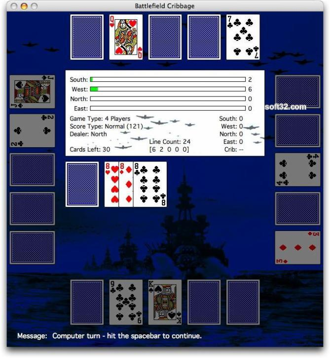 Battlelfield Cribbage Screenshot 1
