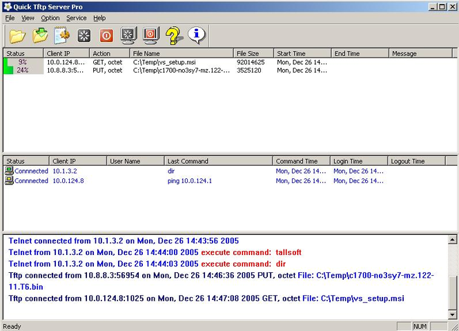 Quick Tftp Server Pro Screenshot