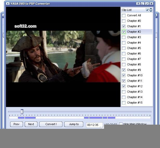 YASA DVD to PSP Converter Screenshot 3