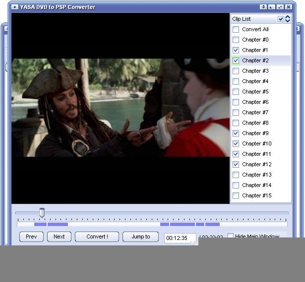 YASA DVD to PSP Converter Screenshot 1