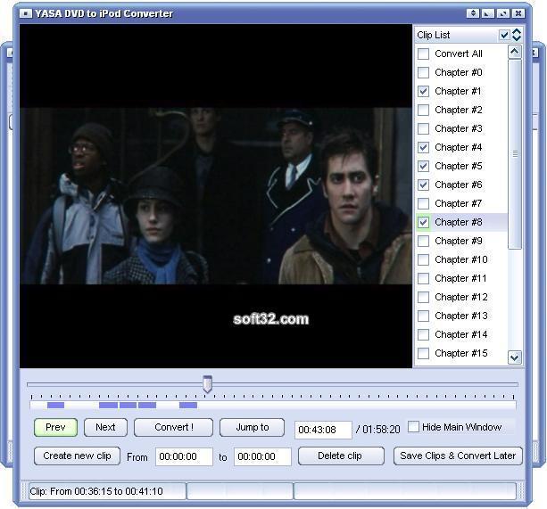 YASA DVD to iPod Converter Screenshot 2