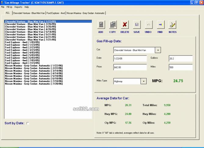 Gas Mileage MPG Tracker Screenshot 2