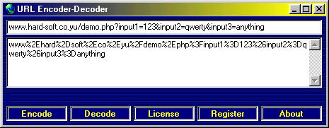 URL Encoder-Decoder Screenshot