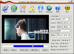 AVI MPEG WMV RM to MP3 Converter Screenshot 2