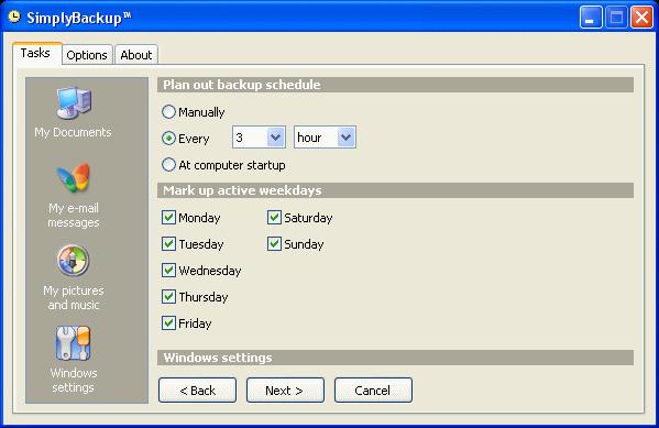 SimplyBackup Screenshot 1