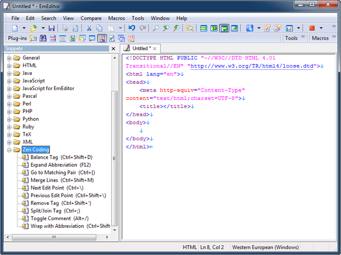 EmEditor Professional Screenshot