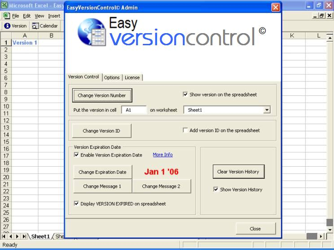 EasyVersionControl-Excel Version Control Screenshot 1