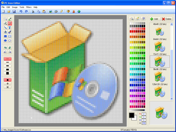 PC Icon Editor Screenshot