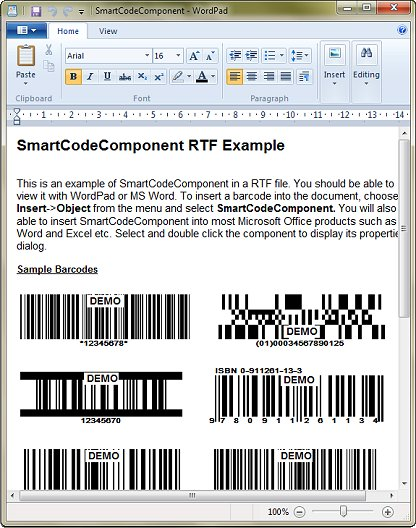 SmartCodeComponent Screenshot 1