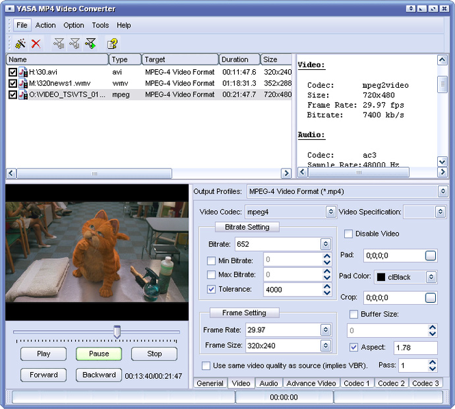 YASA MP4 Video Converter Screenshot 1