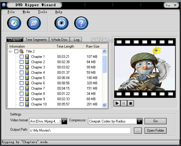 DVD Ripper Wizard Screenshot