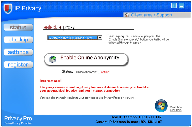 IP Privacy Screenshot 1