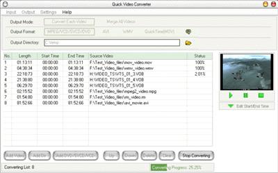 Quick Video Converter Screenshot 1