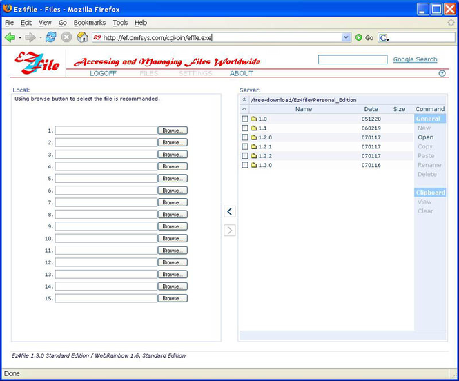 Ez4file (Standard Edition) Screenshot