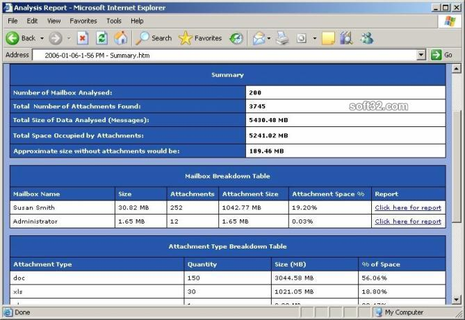 Attachment Analyser Screenshot 2