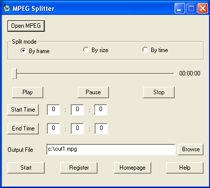 Mpeg Splitter Screenshot