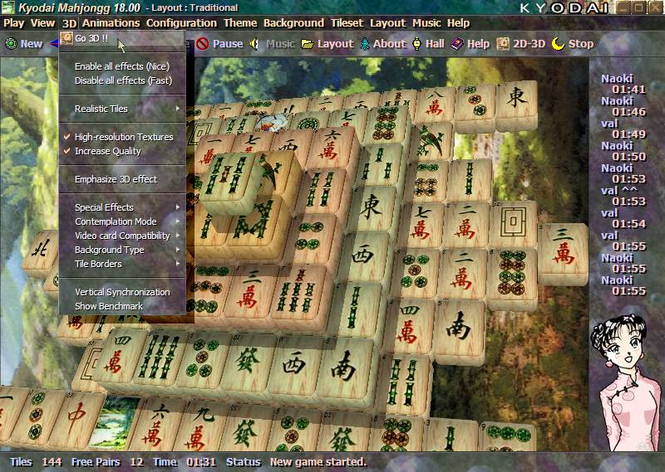 Kyodai Mahjongg 2006 Screenshot