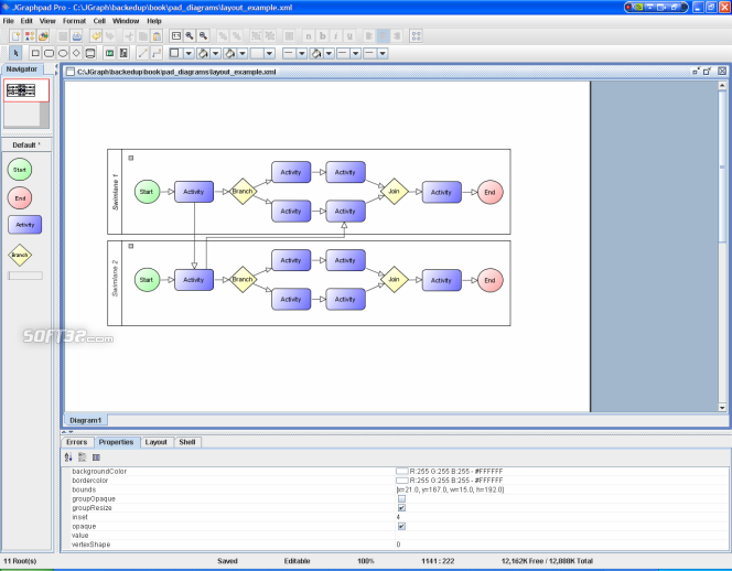 JGraph Screenshot