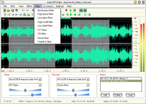 Audio Mp3 Editor Screenshot