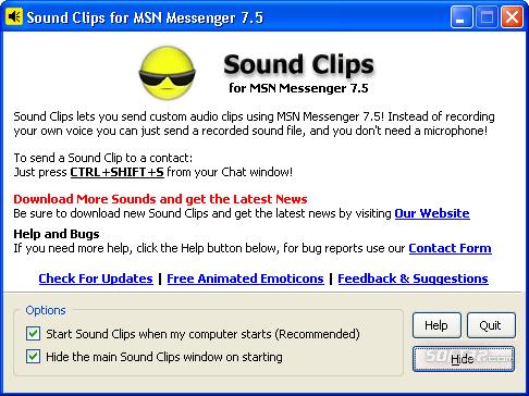 Sound Clips for MSN Messenger Screenshot 2