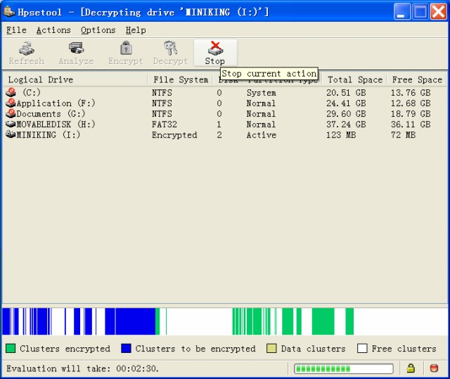Hexprobe Disk Encryption Tool Screenshot