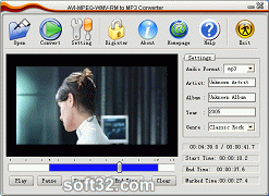 Allok AVI MPEG WMV RM to MP3 Converter Screenshot 2