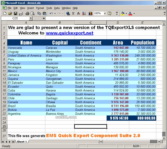 Advanced Data Export .NET Screenshot 3