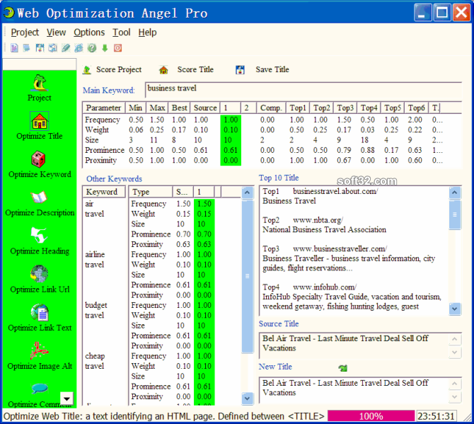 007 Web Optimization Angel Screenshot 3