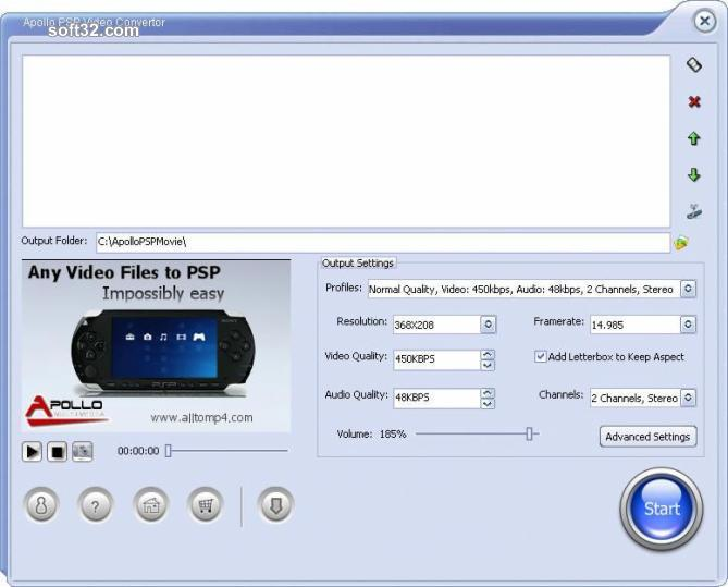 Apollo PSP Video Converter Screenshot 3
