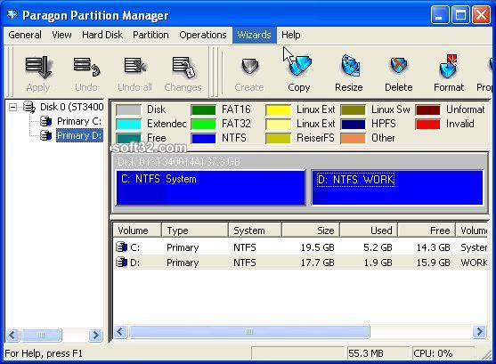 Paragon Partition Manager (Personal) Screenshot