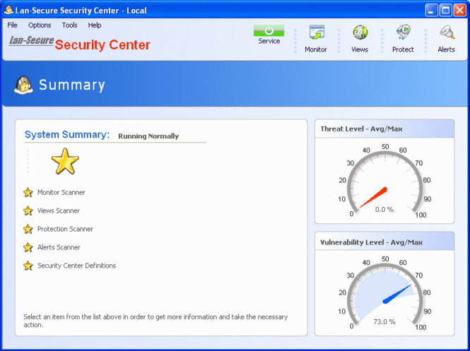 Security Center Lite Screenshot