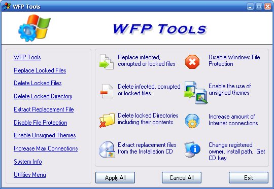 WFP Tools Screenshot