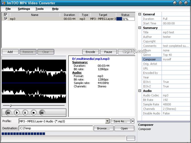 ImTOO MP4 Video Converter Screenshot 5