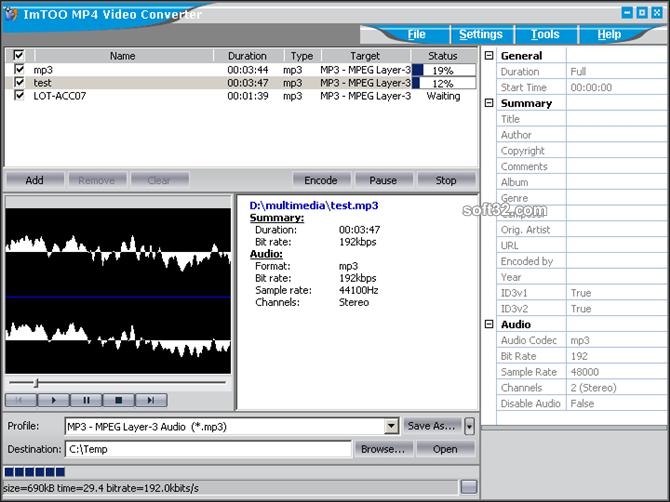 ImTOO MP4 Video Converter Screenshot 6