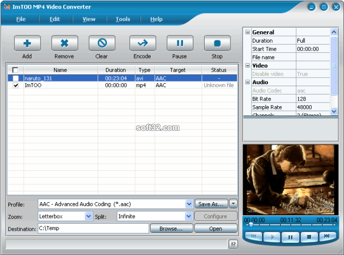 ImTOO MP4 Video Converter Screenshot 7